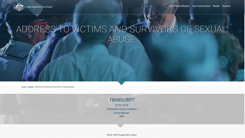 Address to Victims and Survivors of Sexual Abuse