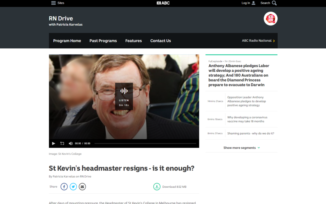 St Kevin's headmaster resigns – is it enough?