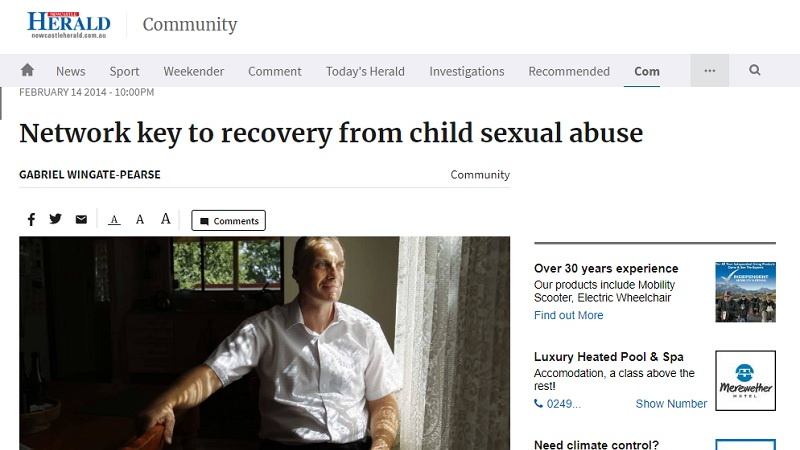 Network key to recovery from child sexual abuse